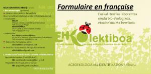 Formulaire en française